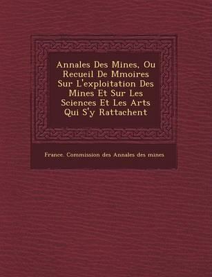 Annales Des Mines, Ou Recueil de M Moires Sur L'Exploitation Des Mines Et Sur Les Sciences Et Les Arts Qui S'y Rattachent (Paperback)