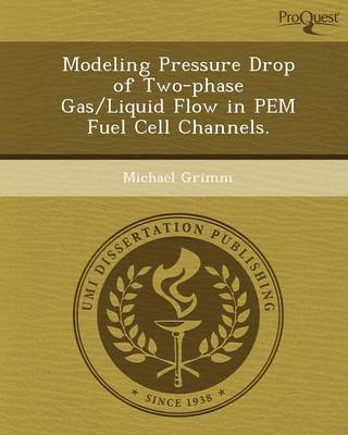 Modeling Pressure Drop of Two-Phase Gas/Liquid Flow in Pem Fuel Cell Channels (Paperback)