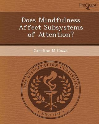 Does Mindfulness Affect Subsystems of Attention? (Paperback)
