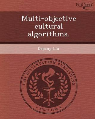 Multi-Objective Cultural Algorithms (Paperback)