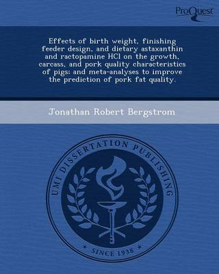 Effects of Birth Weight (Paperback)