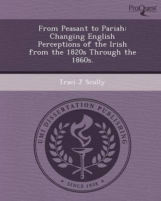 From Peasant to Pariah: Changing English Perceptions of the Irish from the 1820s Through the 1860s (Paperback)