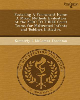 Fostering a Permanent Home: A Mixed Methods Evaluation of the Zero to Three Court Teams for Maltreated Infants and Toddlers Initiative (Paperback)