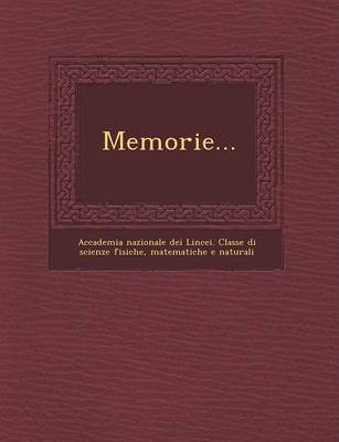 Memorie... (Paperback)