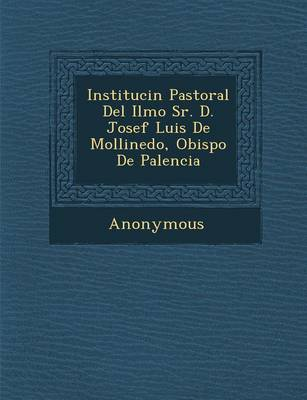 Instituci N Pastoral del Ilmo Sr. D. Josef Luis de Mollinedo, Obispo de Palencia (Paperback)