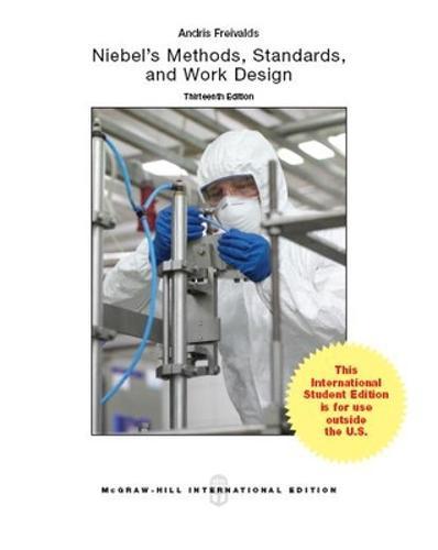 Niebel's Methods, Standards, & Work Design (Paperback)