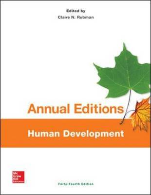 Annual Editions: Human Development (Paperback)