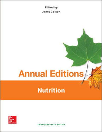 Annual Editions: Nutrition, 27/e (Paperback)