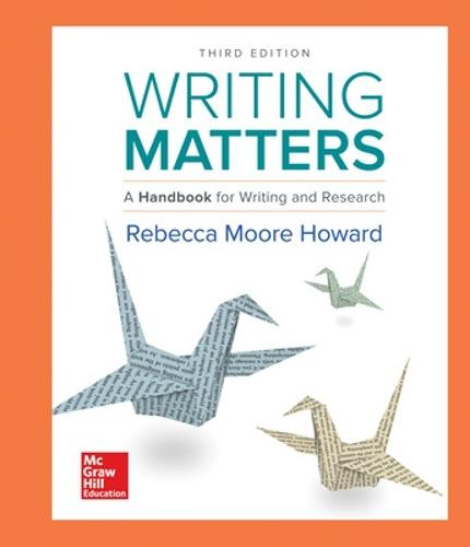 Writing Matters: A Handbook for Writing and Research (Comprehensive Edition with Exercises) (Hardback)