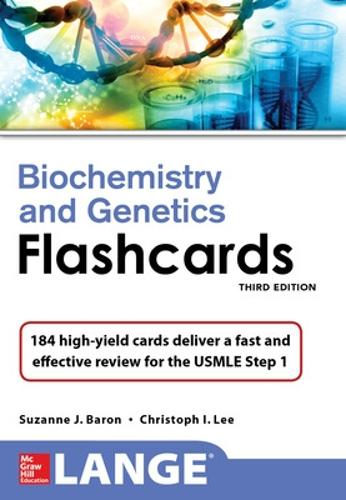 Lange Biochemistry and Genetics Flashhcards, Third Edition (Paperback)