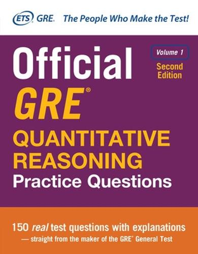 Official GRE Quantitative Reasoning Practice Questions, Second Edition, Volume 1 (Hardback)