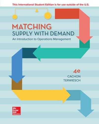 Matching Supply with Demand: An Introduction to Operations Management (Paperback)