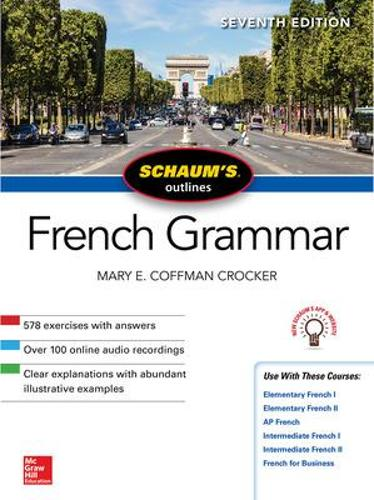 Schaum's Outline of French Grammar, Seventh Edition (Paperback)