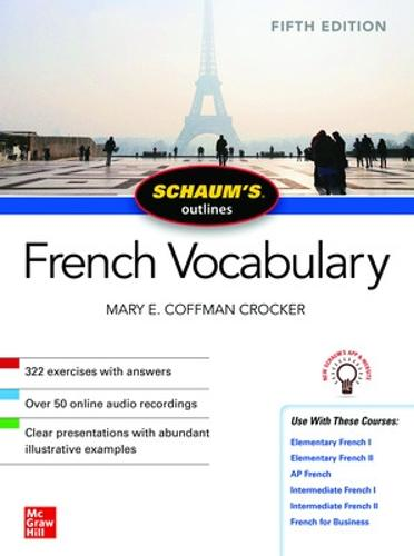 Schaum's Outline of French Vocabulary, Fifth Edition (Paperback)