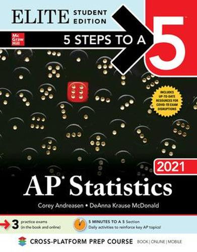 5 Steps to a 5: AP Statistics 2021 Elite Student Edition (Paperback)