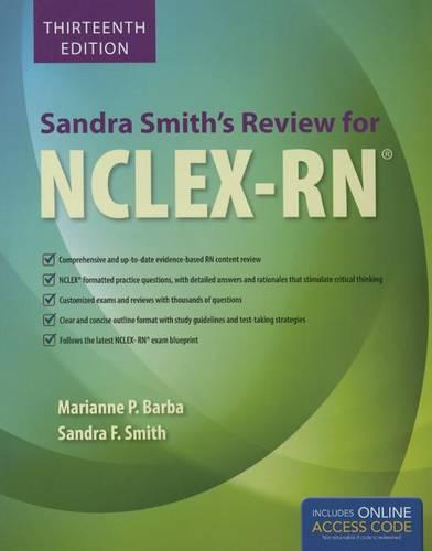 Sandra Smith's Review For NCLEX-RN (Paperback)