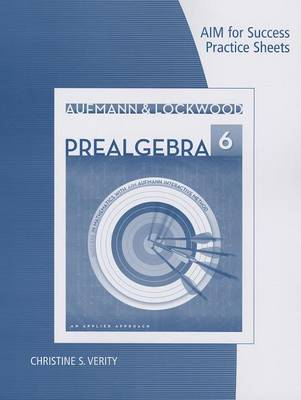 Prealgebra, AIM for Success Practice Sheets: An Applied Approach (Paperback)
