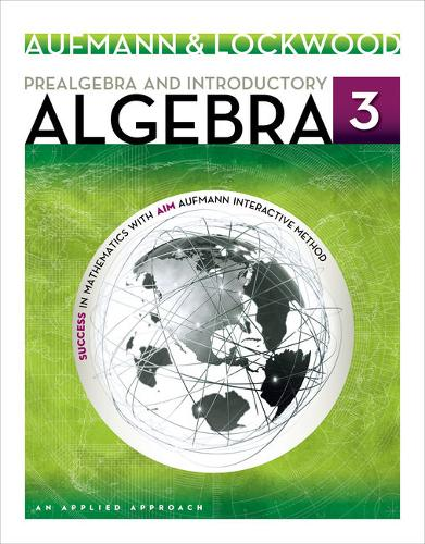 Prealgebra and Introductory Algebra: An Applied Approach: Student Solutions Manual (Paperback)