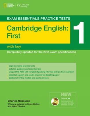 Exam Essentials: Cambridge First Practice Tests 1 w/key + DVD-ROM