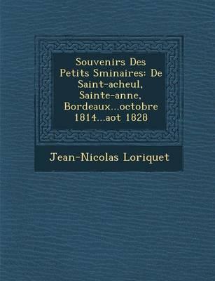 Souvenirs Des Petits S Minaires: de Saint-Acheul, Sainte-Anne, Bordeaux...Octobre 1814...Ao T 1828 (Paperback)