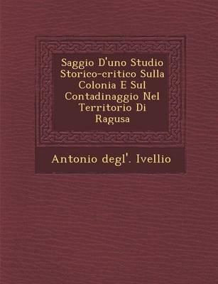 Saggio D'Uno Studio Storico-Critico Sulla Colonia E Sul Contadinaggio Nel Territorio Di Ragusa (Paperback)