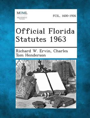 Official Florida Statutes 1963 (Paperback)