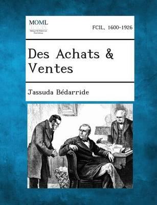 Des Achats & Ventes (Paperback)