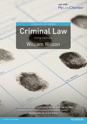 Criminal Law 5th edition MyLawChamber pack - Longman Law Series