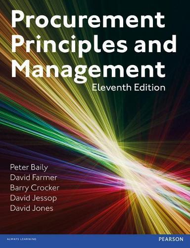 Procurement, Principles & Management (Paperback)
