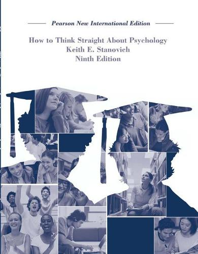 How To Think Straight About Psychology: Pearson New International Edition (Paperback)