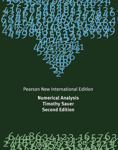 Numerical Analysis: Pearson New International Edition (Paperback)