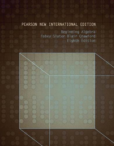 Beginning Algebra: Pearson New International Edition (Paperback)