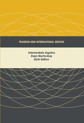 Intermediate Algebra: Pearson New International Edition (Paperback)