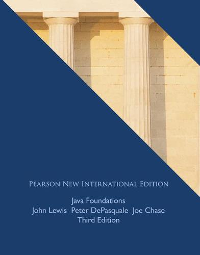 Java Foundations: Pearson New International Edition (Paperback)