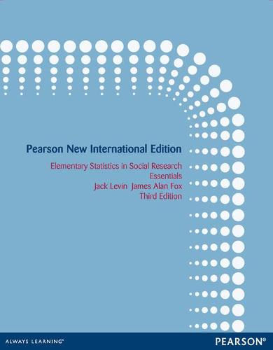 Elementary Statistics in Social Research: Pearson New International Edition: Essentials (Paperback)