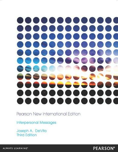 Interpersonal Messages: Pearson New International Edition (Paperback)
