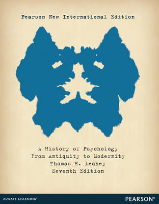 History of Psychology: From Antiquity to Modernity (Hardback)