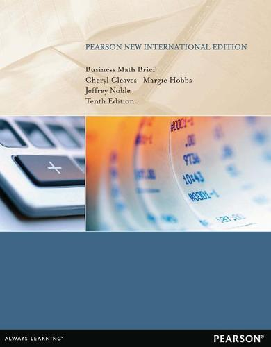 Business Math Brief: Pearson New International Edition (Paperback)