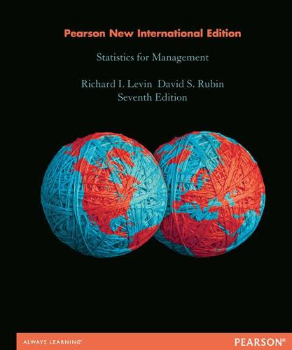 Statistics for Management: Pearson New International Edition (Paperback)