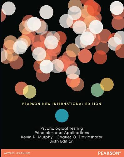 Psychological Testing: Pearson New International Edition: Principles and Applications (Paperback)