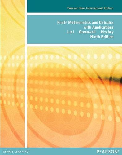 Finite Mathematics and Calculus with Applications: Pearson New International Edition (Paperback)