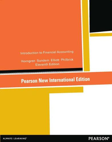 Introduction to Financial Accounting:Pearson New International Edition (Paperback)