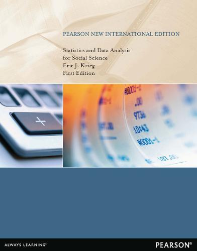 Statistics and Data Analysis for Social Science: Pearson New International Edition (Paperback)