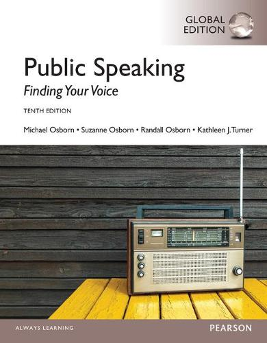 Public Speaking: Finding Your Voice, Global Edition (Paperback)