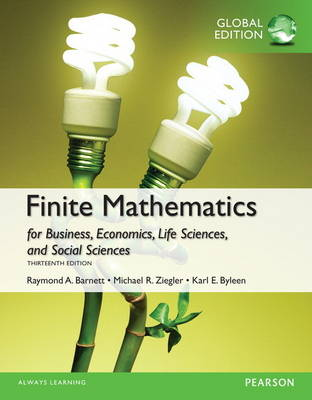 Finite Mathematics for Business, Economics, Life Sciences and Social Sciences with MyMathLab, Global Edition