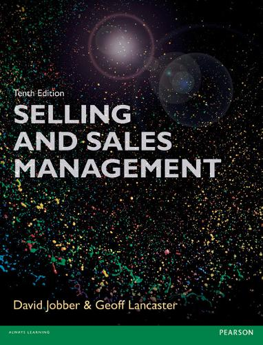 Selling and Sales Management 10th edn (Paperback)