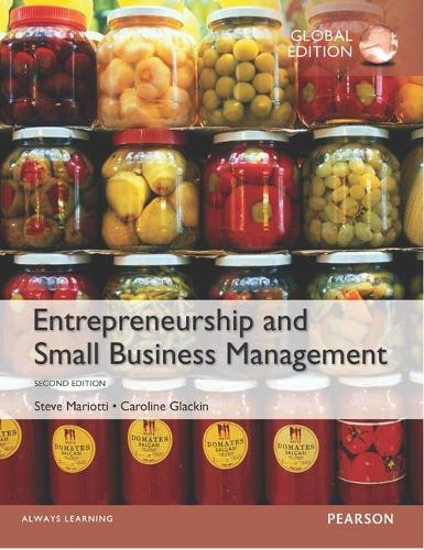 Entrepreneurship and Small Business Management, Global Edition (Paperback)