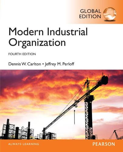 Modern Industrial Organization, Global Edition (Paperback)