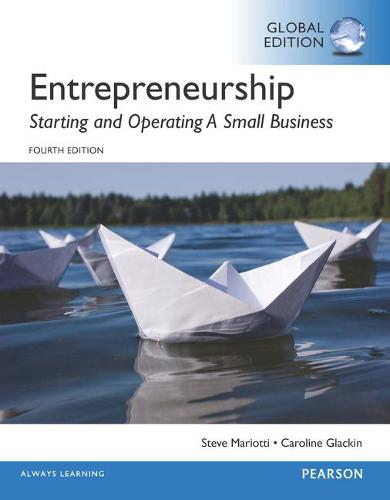 Entrepreneurship: Starting and Operating A Small Business, Global Edition (Paperback)