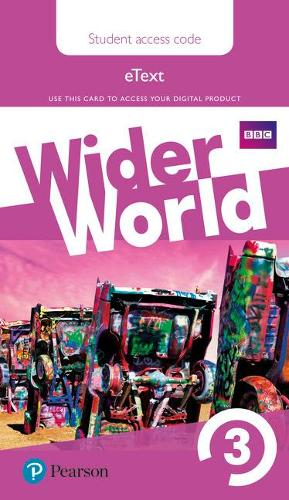 Wider World 3 eBook Students' Access Card - Wider World (Digital product license key)